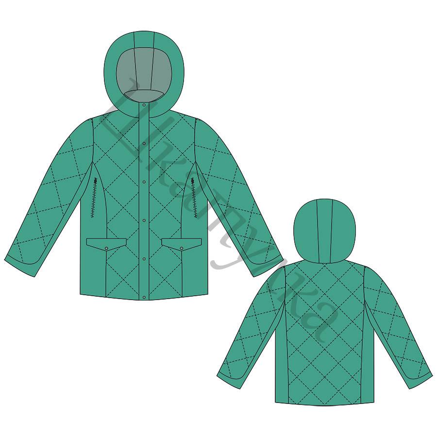 Выкройка мужской утепленной куртки