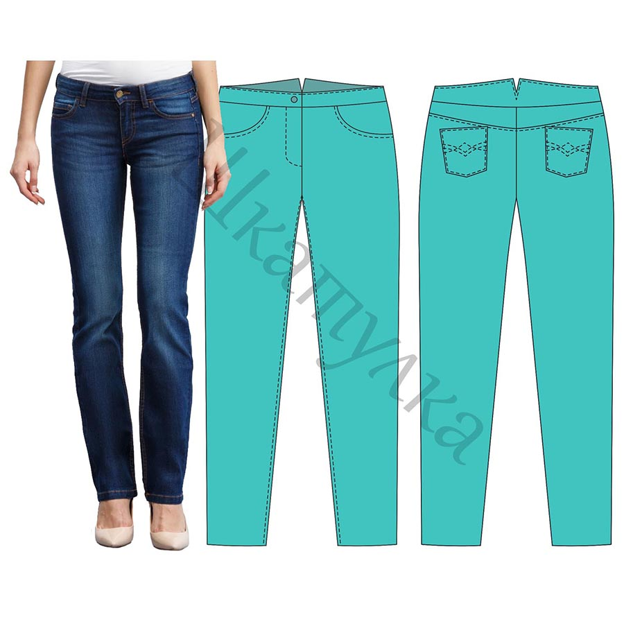 Выкройка на джинсы зауженные фото 69