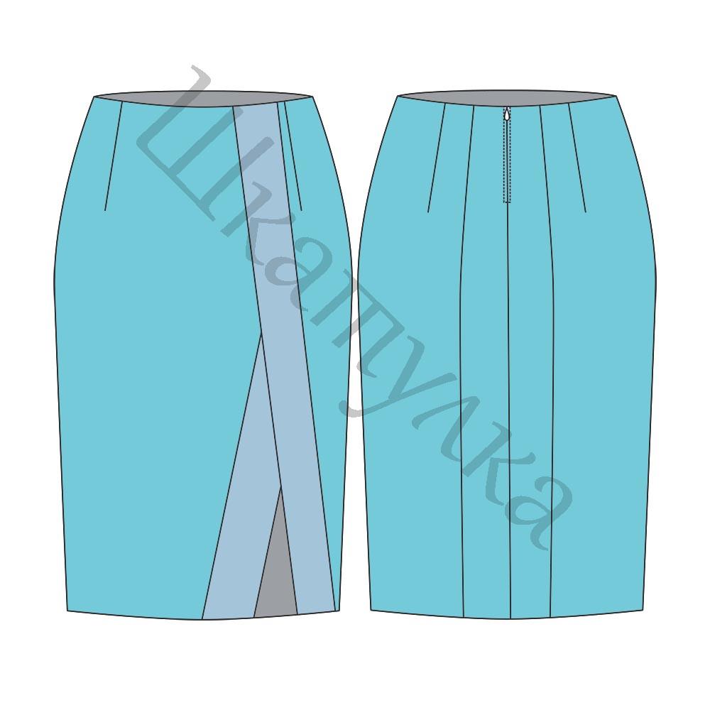Выкройка юбки с асимметрией