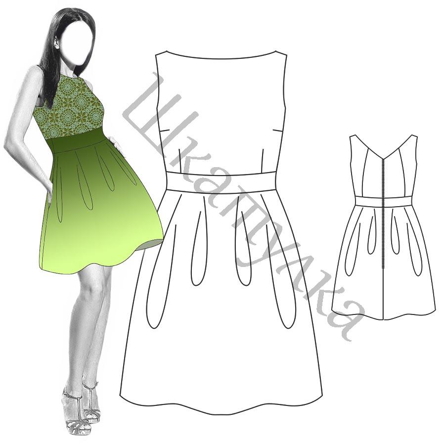 Платье D12 — готовая выкройка
