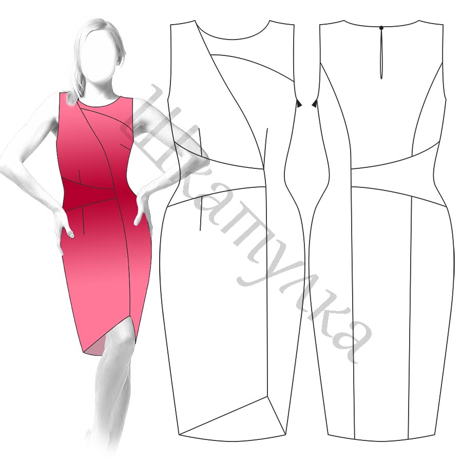 Платье D14 — готовая выкройка