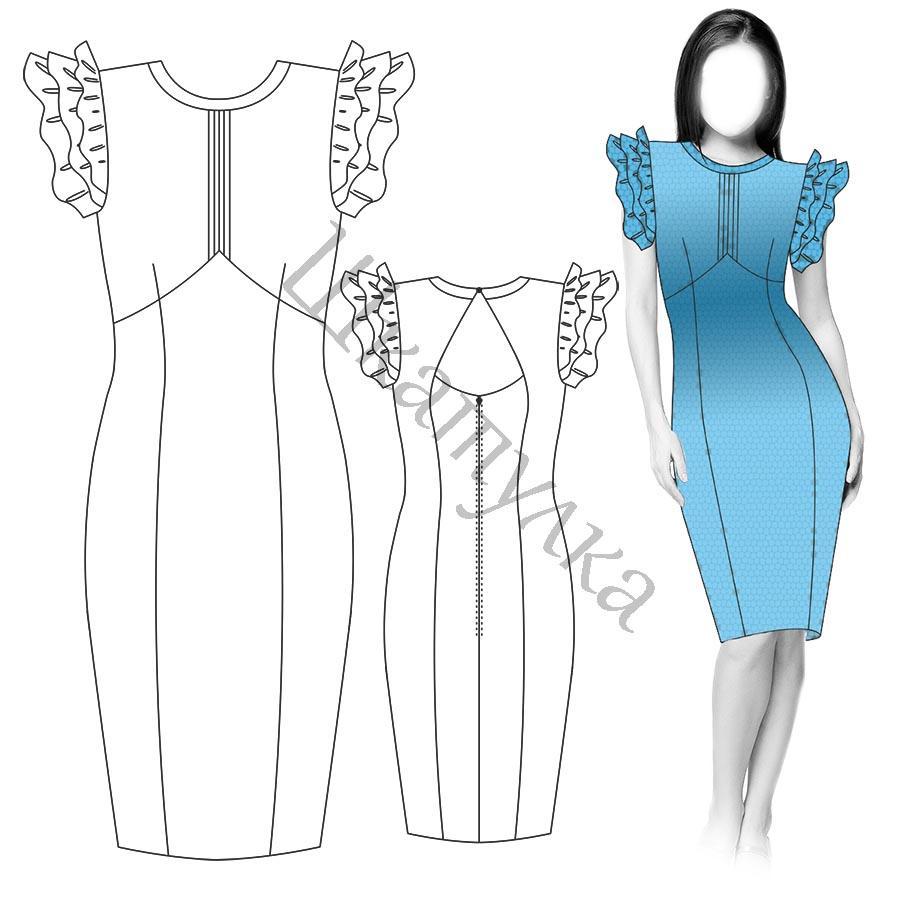 Платье D16 — готовая выкройка