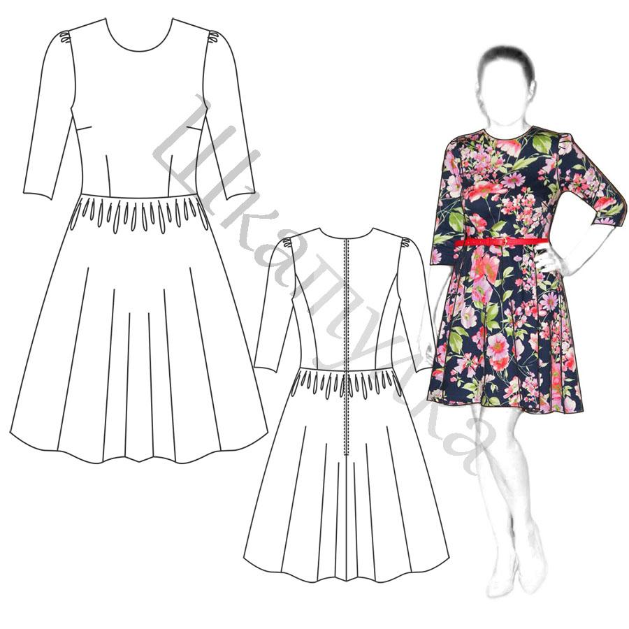 Платье D17 — готовая выкройка