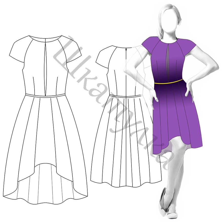 Платье D111 — готовая выкройка