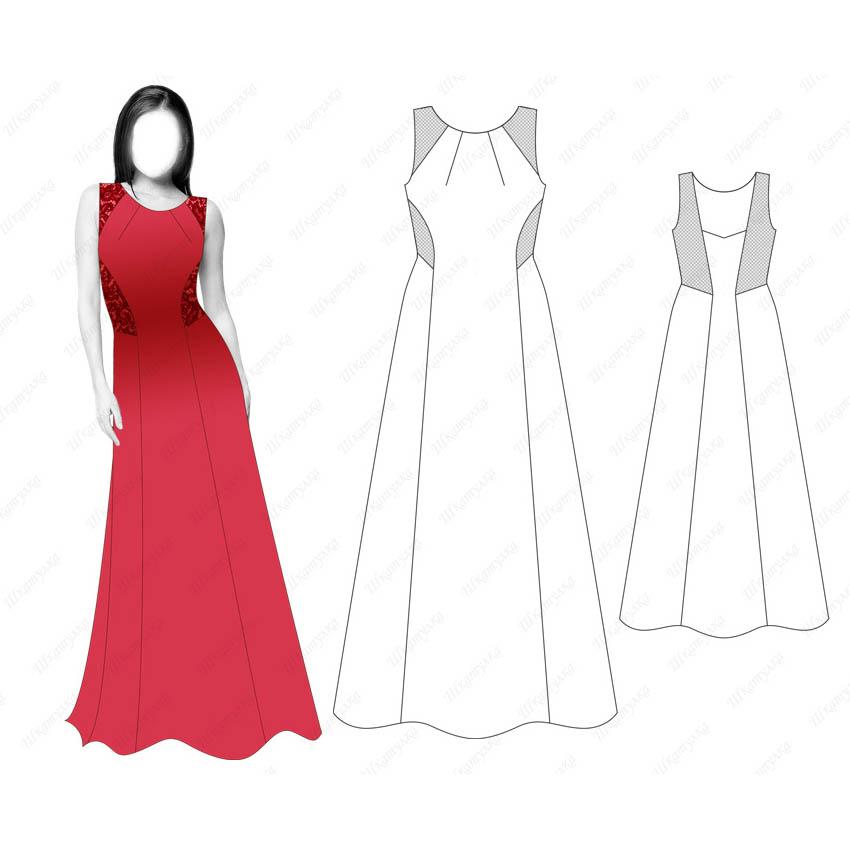 Платье D18 — готовая выкройка