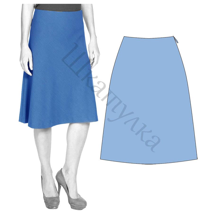Выкройка юбки А-силуэта WS020517