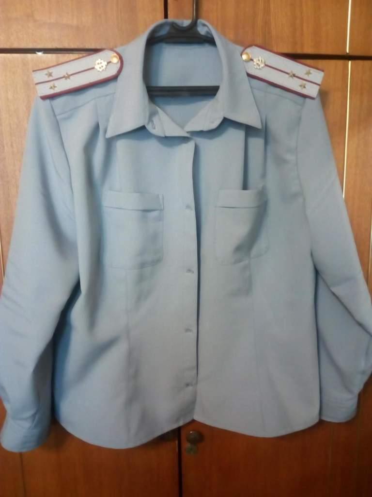 форменная женская рубашка 62 р-ра