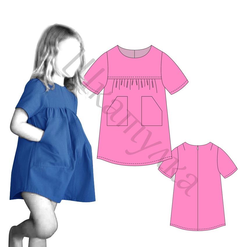 Выкройка платья для девочки KD180717