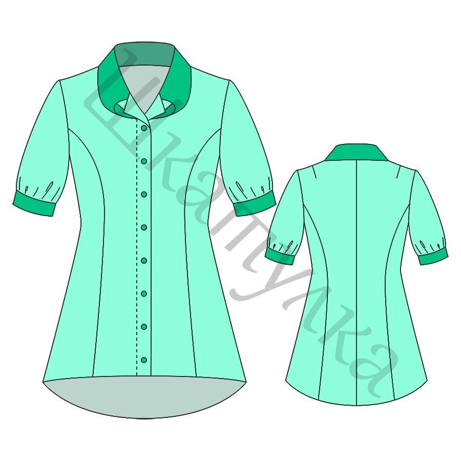 Выкройка удлиненной блузки WT310717