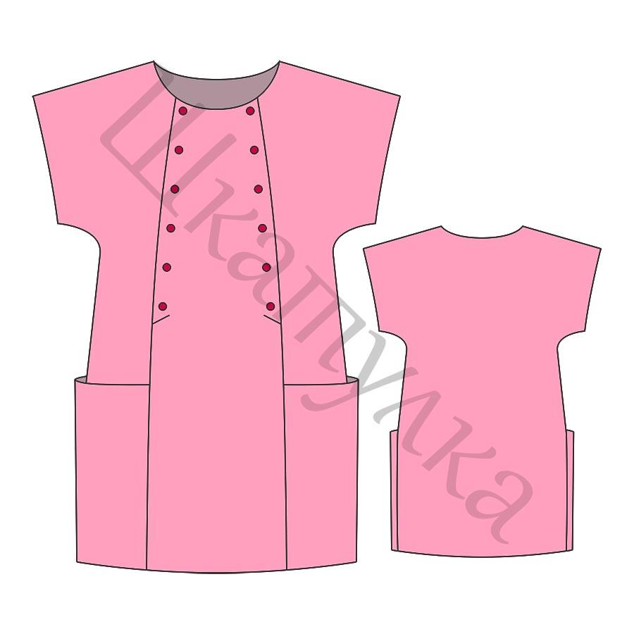 Выкройка платья для девочки KD080817