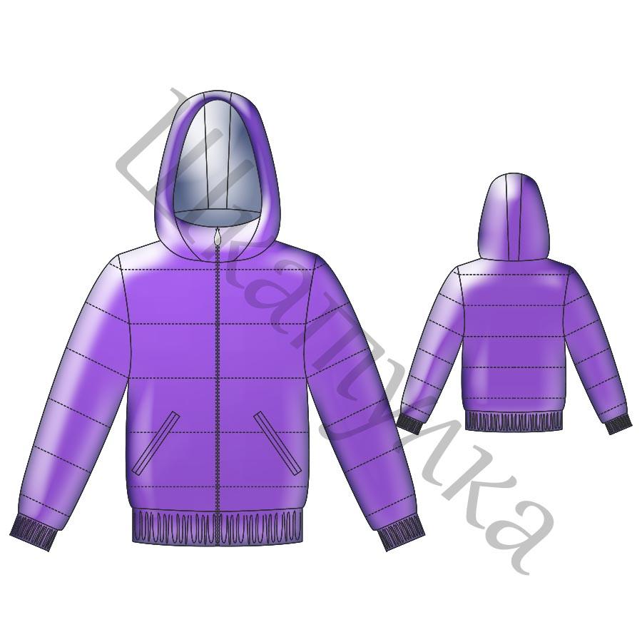 Выкройка женской зимней куртки  WP171017