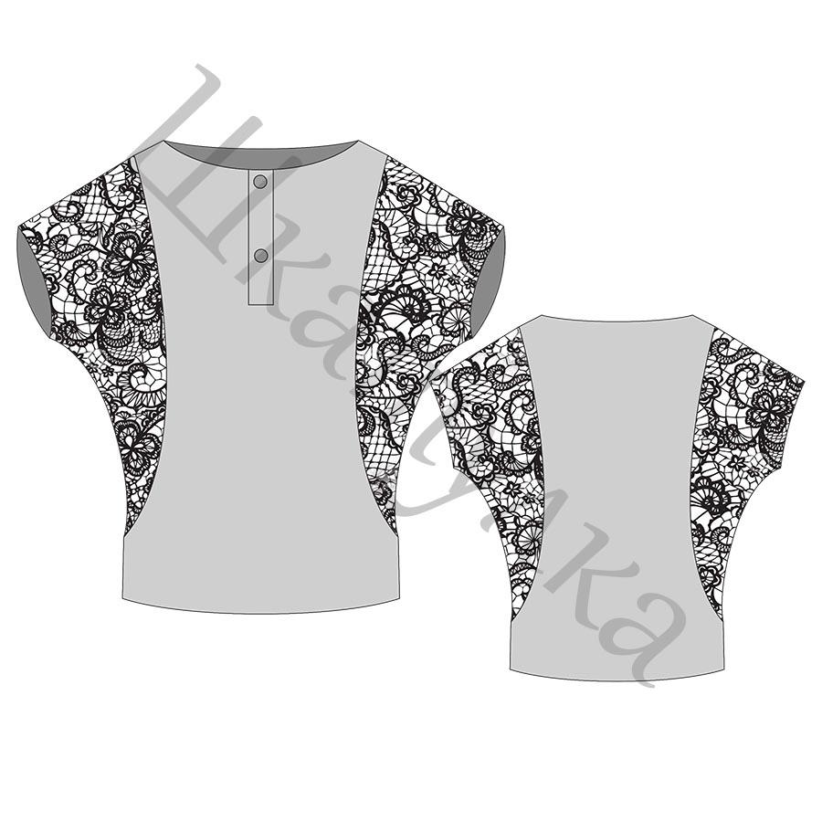 Выкройка женской блузы WT141117