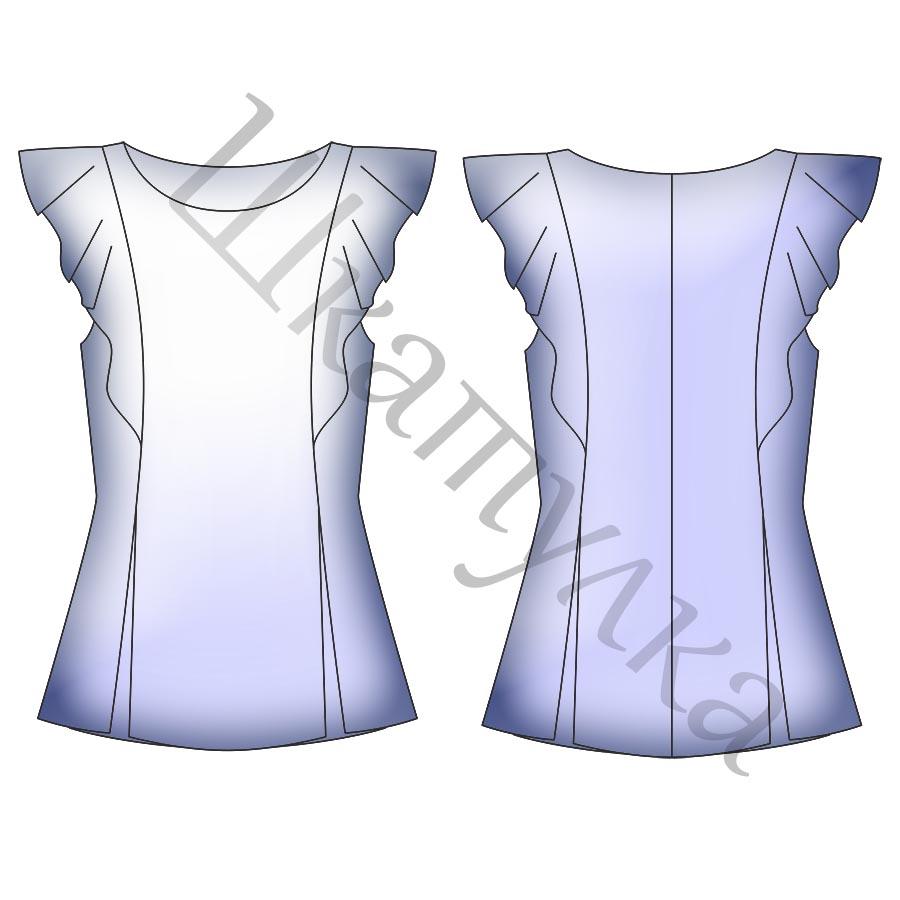 Готовые выкройки блузок 50 размер фото 721