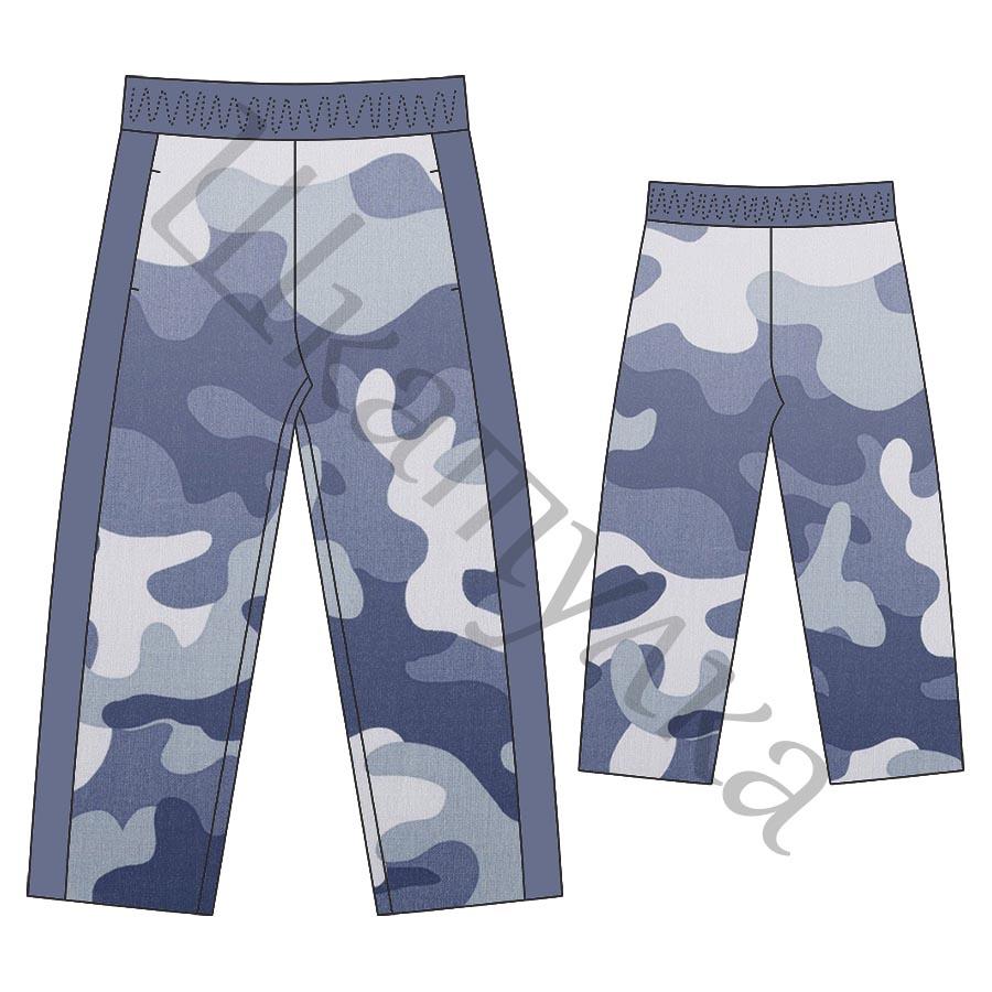 Выкройка утепленных детских брюк KB201217