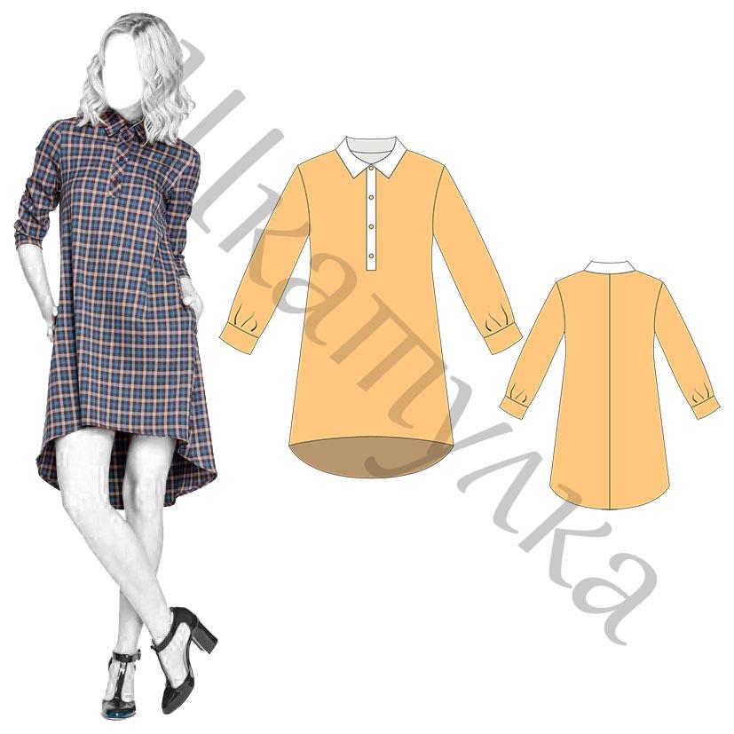 Выкройка женского платья WD160218
