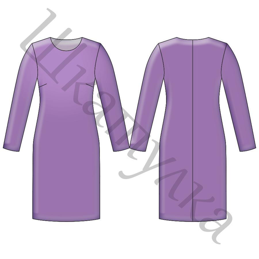 Выкройка женского трикотажного платья WD290318