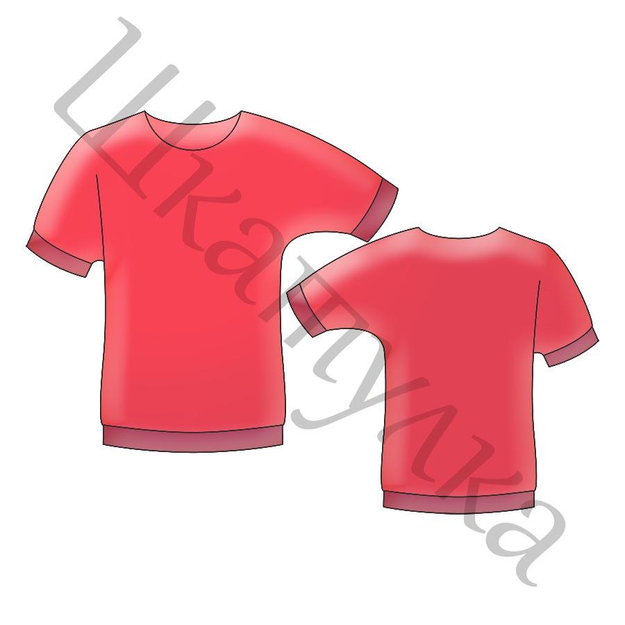 Выкройка трикотажной блузы с цельнокроеным рукавом WT040418