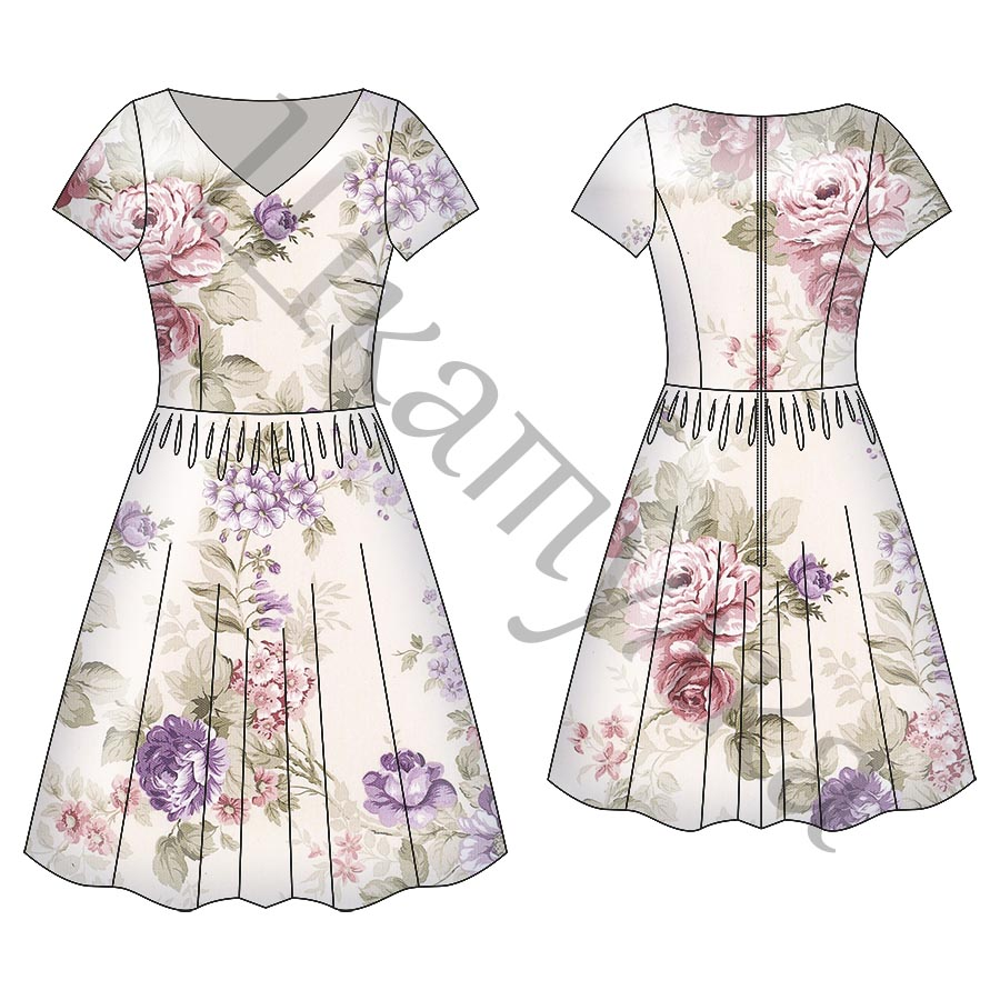 Выкройка женского платья WD240418