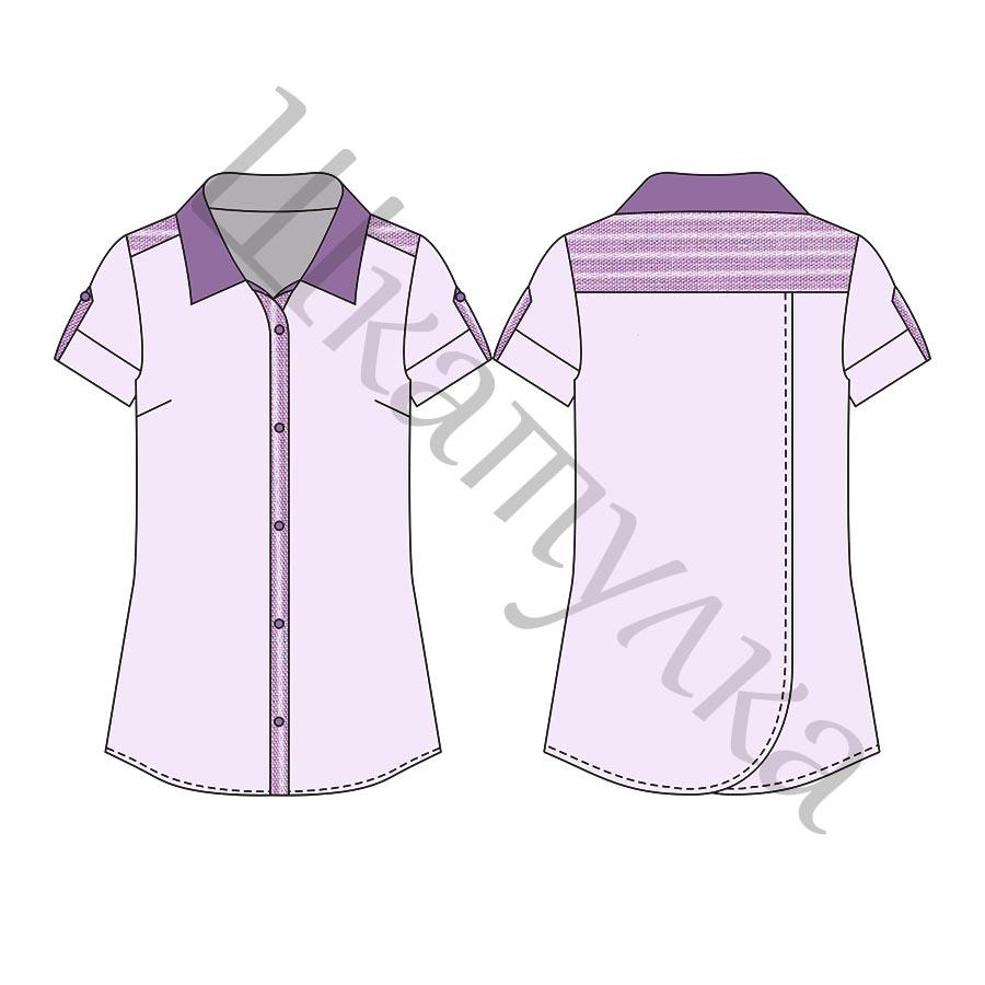 Выкройка женской рубашки с запАхом на спинке WT160518