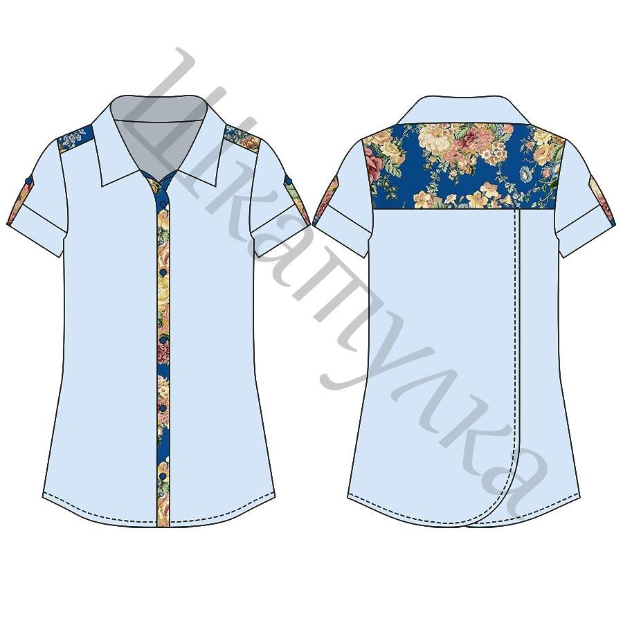 Выкройка рубашки для девочки KT160518