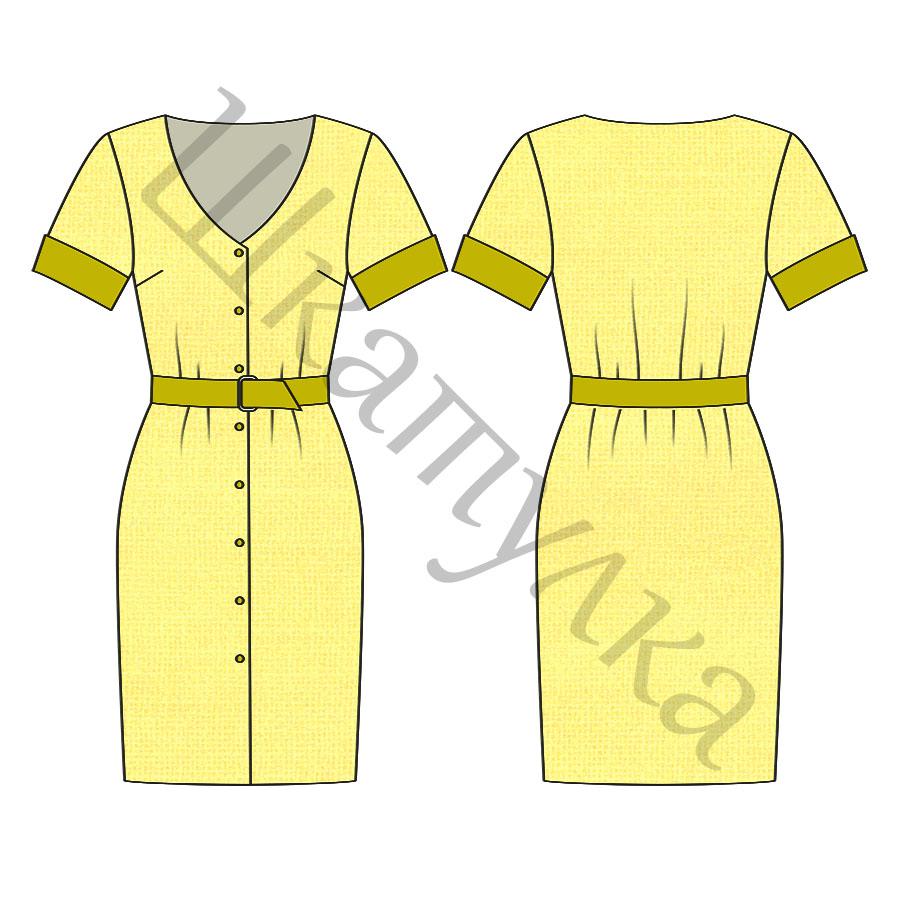 Выкройка платья WD070918