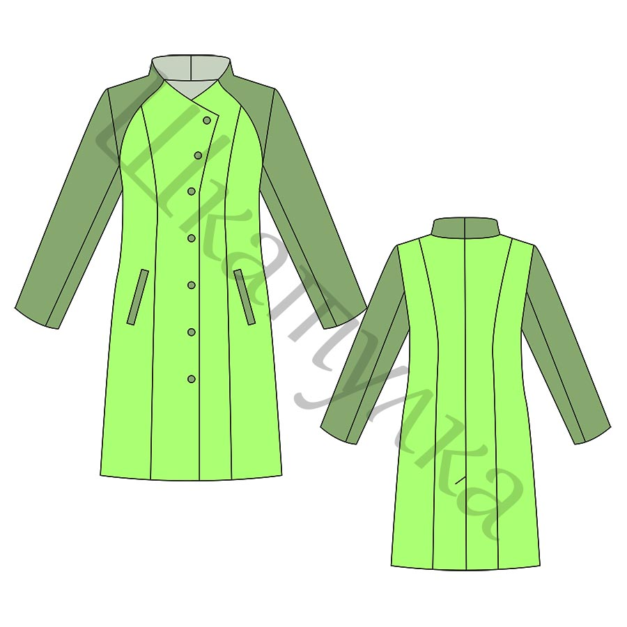 Выкройка женского пальто WC180918