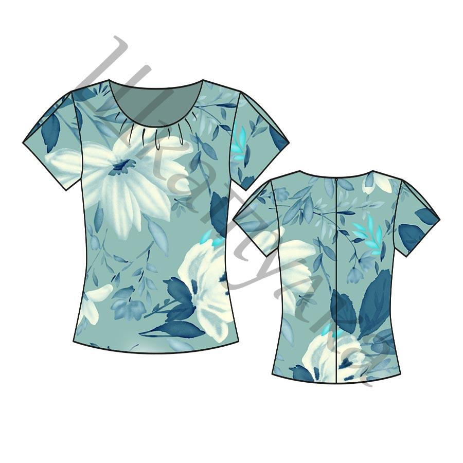 Выкройка простой женской блузки WT280918