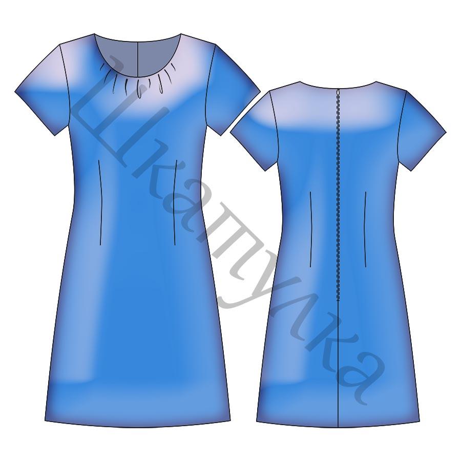 Выкройка платья WD301118