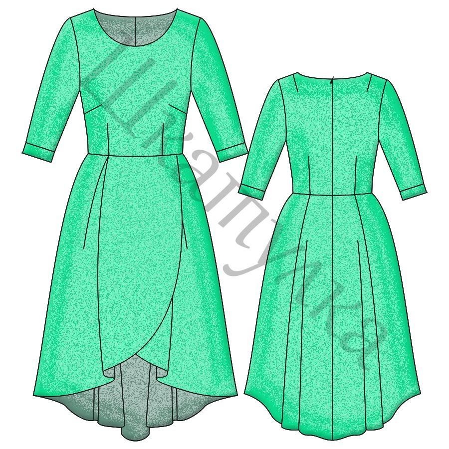 Выкройка платья WD171218