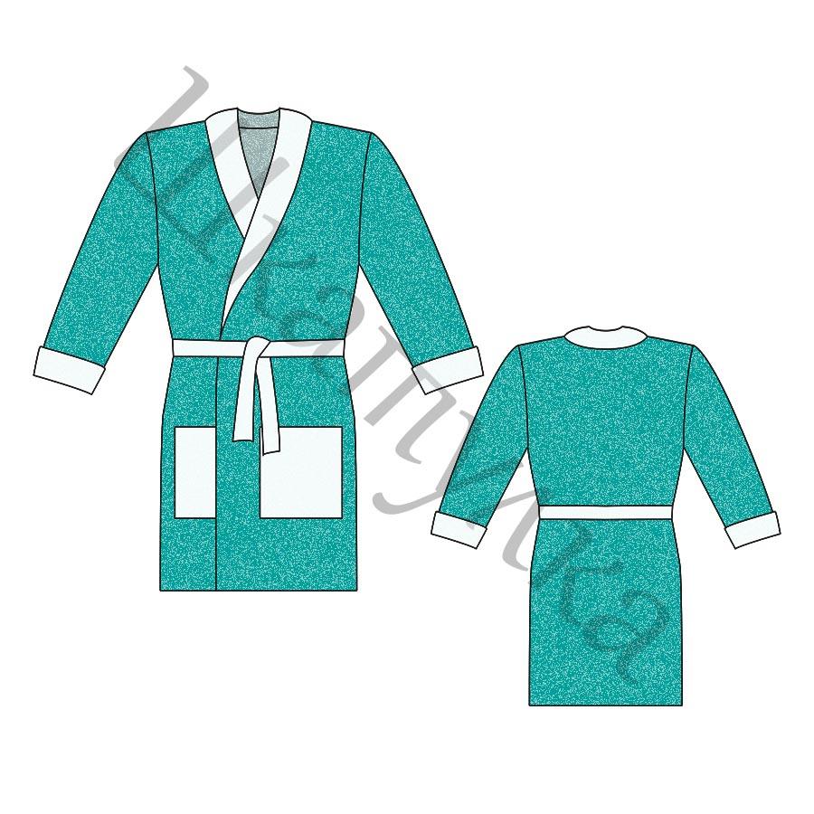 Выкройка мужского халата MJ090119