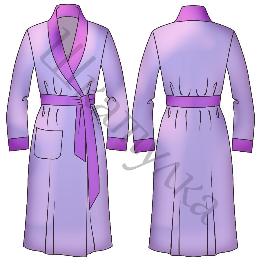 Выкройка женского халата WD010219