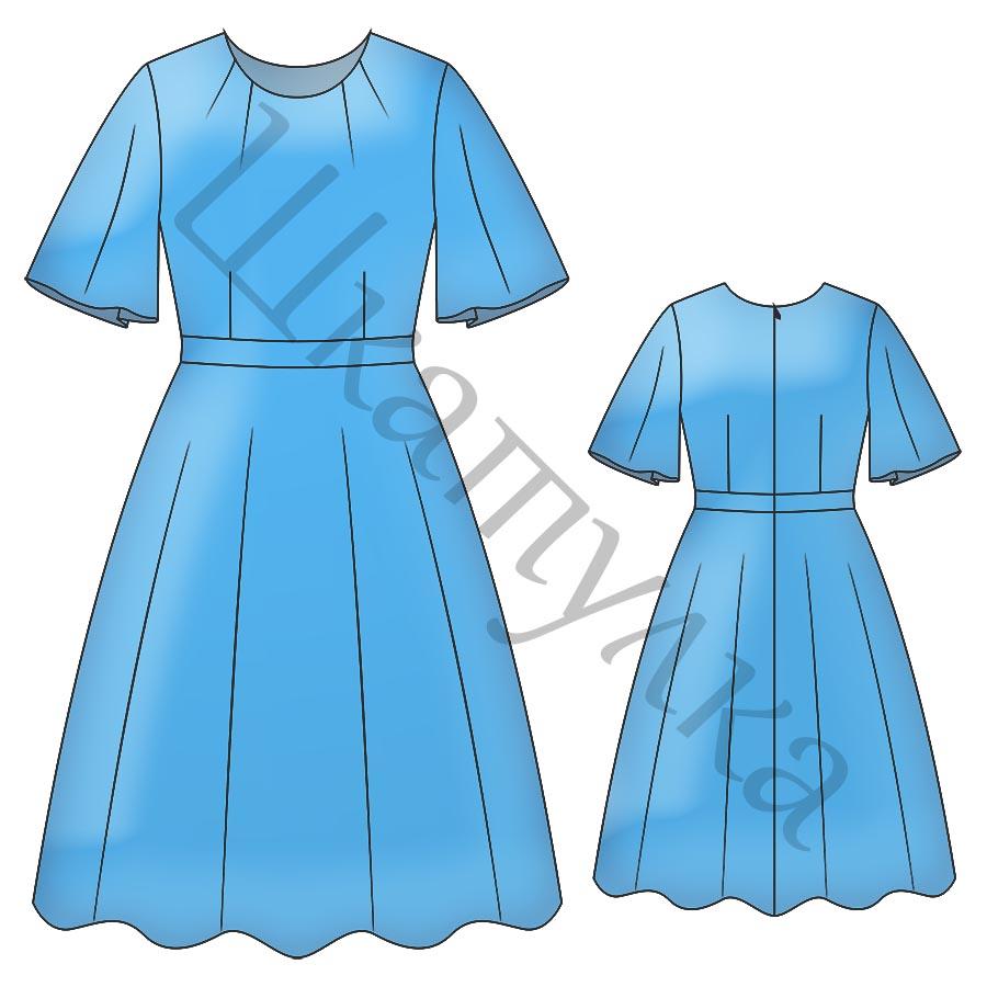 Выкройка женского платья WD070319
