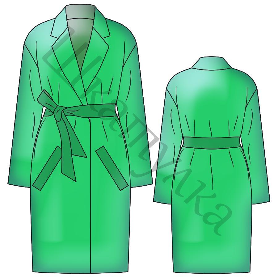 Выкройка демисезонного пальто WC110319