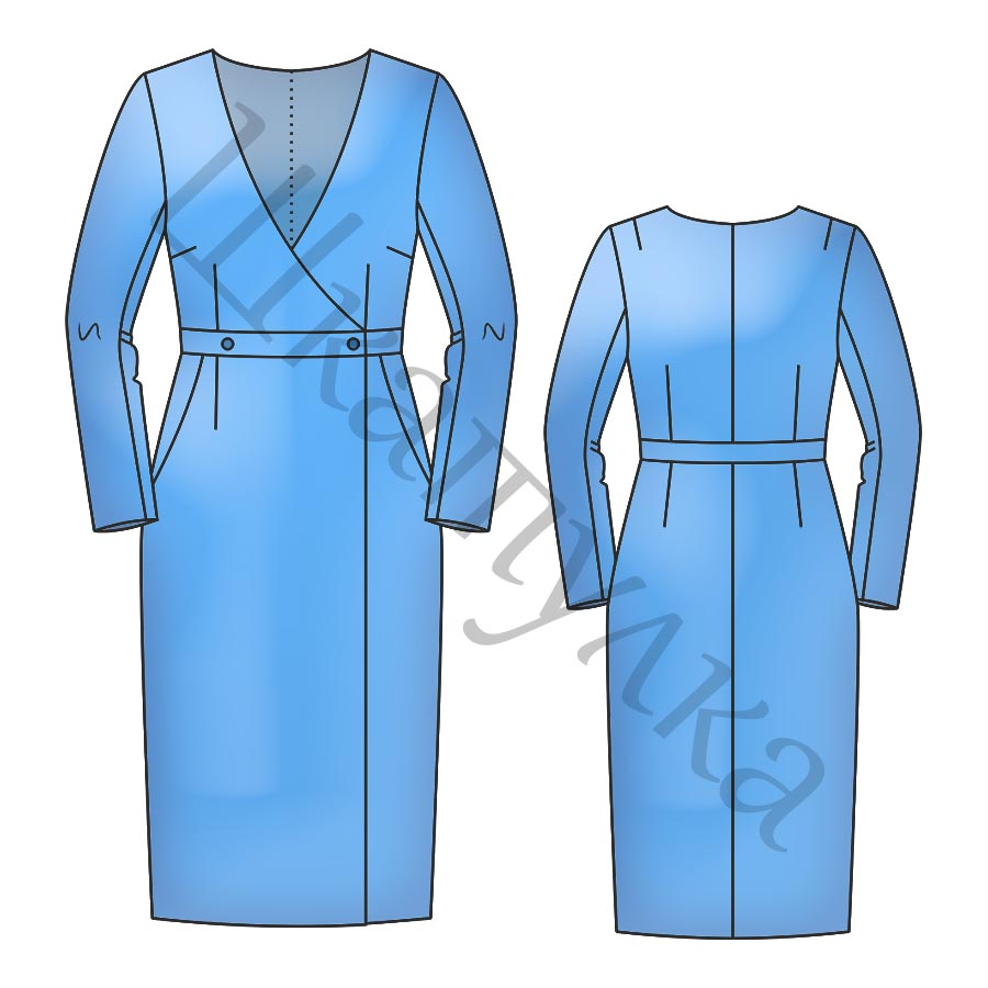 Выкройка платья-пальто WD210319