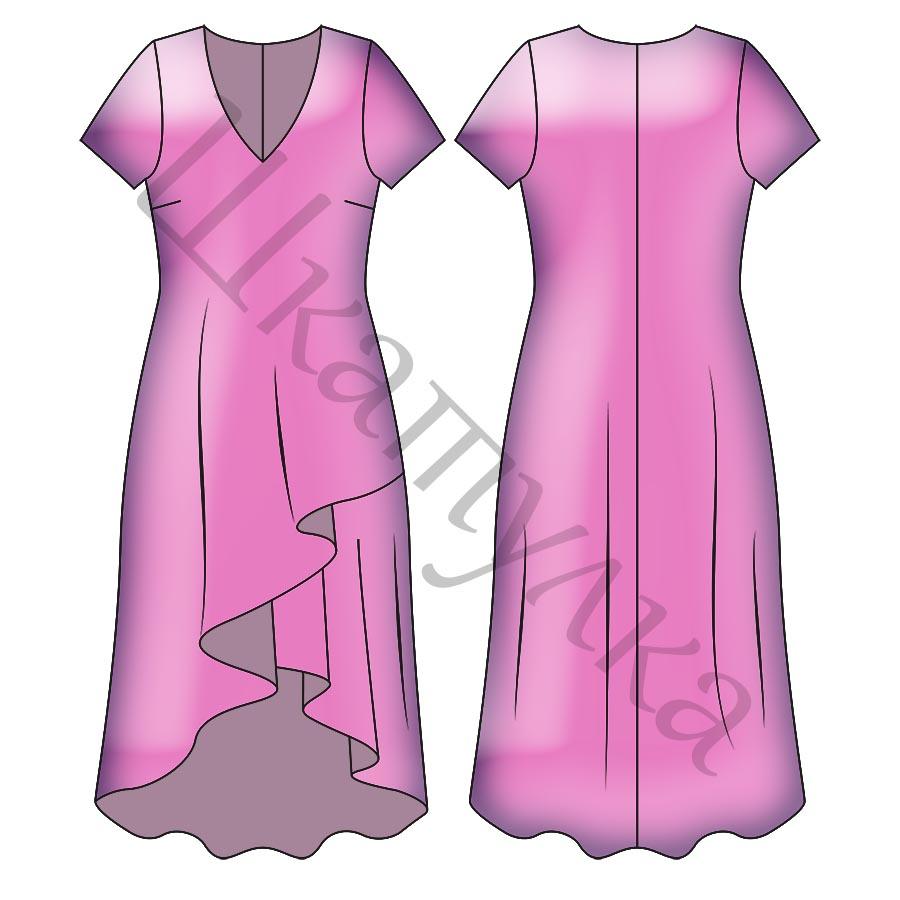 Выкройка трикотажного платья WD090419
