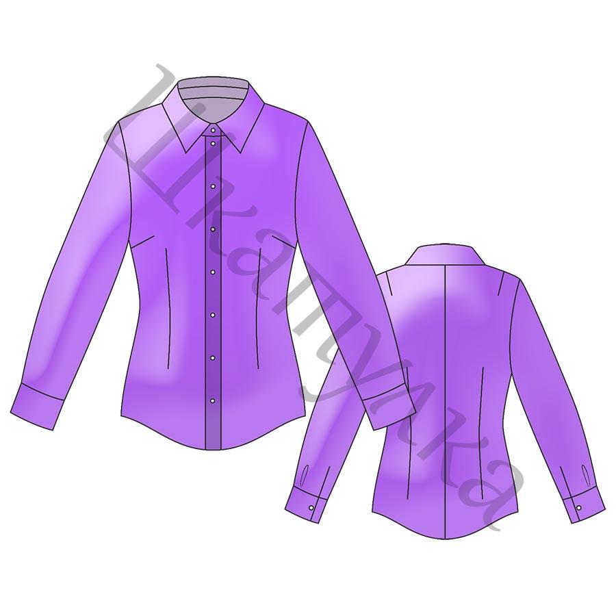 Выкройка базовой женской блузки WT230419