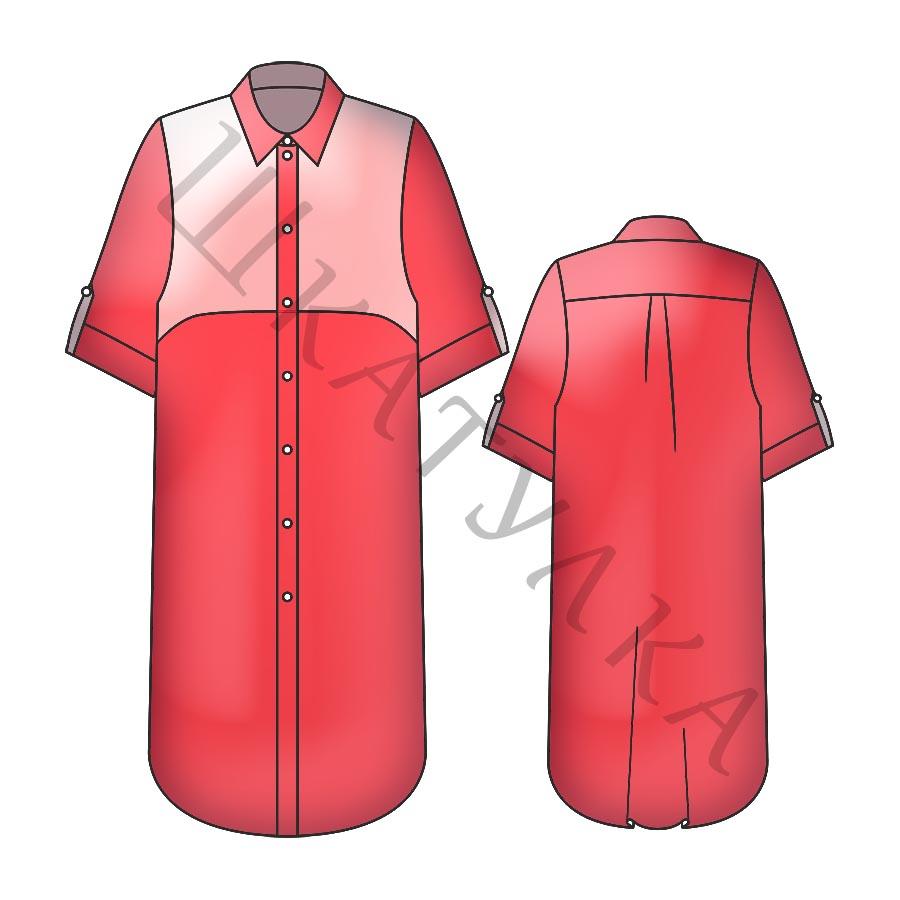 Выкройка платья-рубашки WD300419
