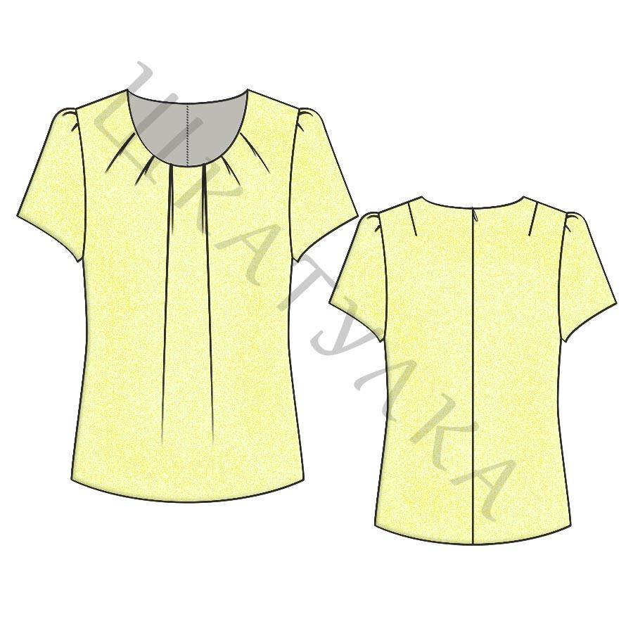 Выкройка женской блузки WT240519