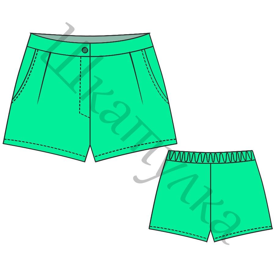 Выкройка женских шорт WP280519