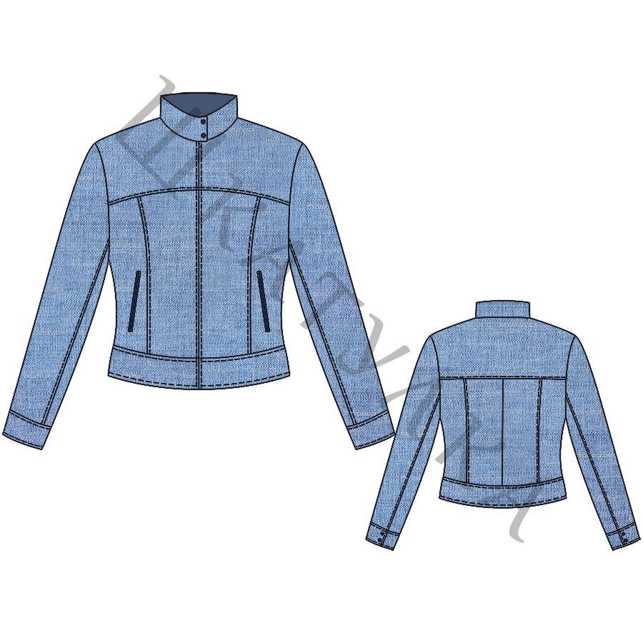 Выкройка женской джинсовой куртки WC310519