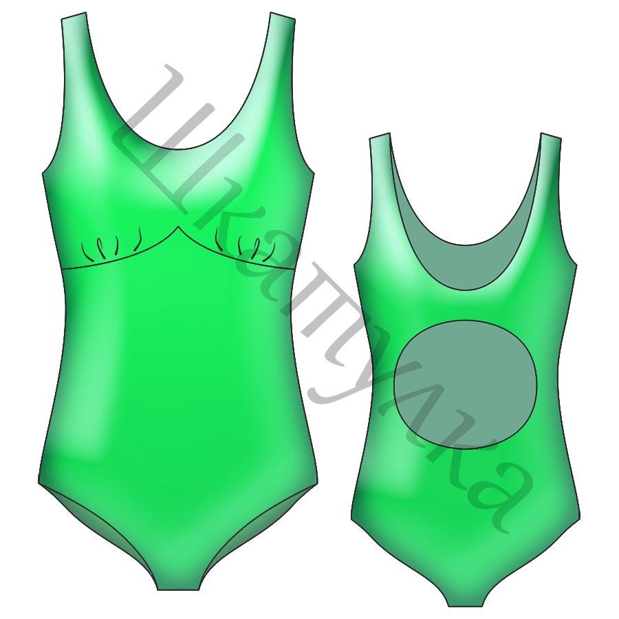 Выкройка женского слитного купальника WT110619