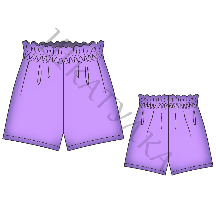Выкройка женских шорт WP280619