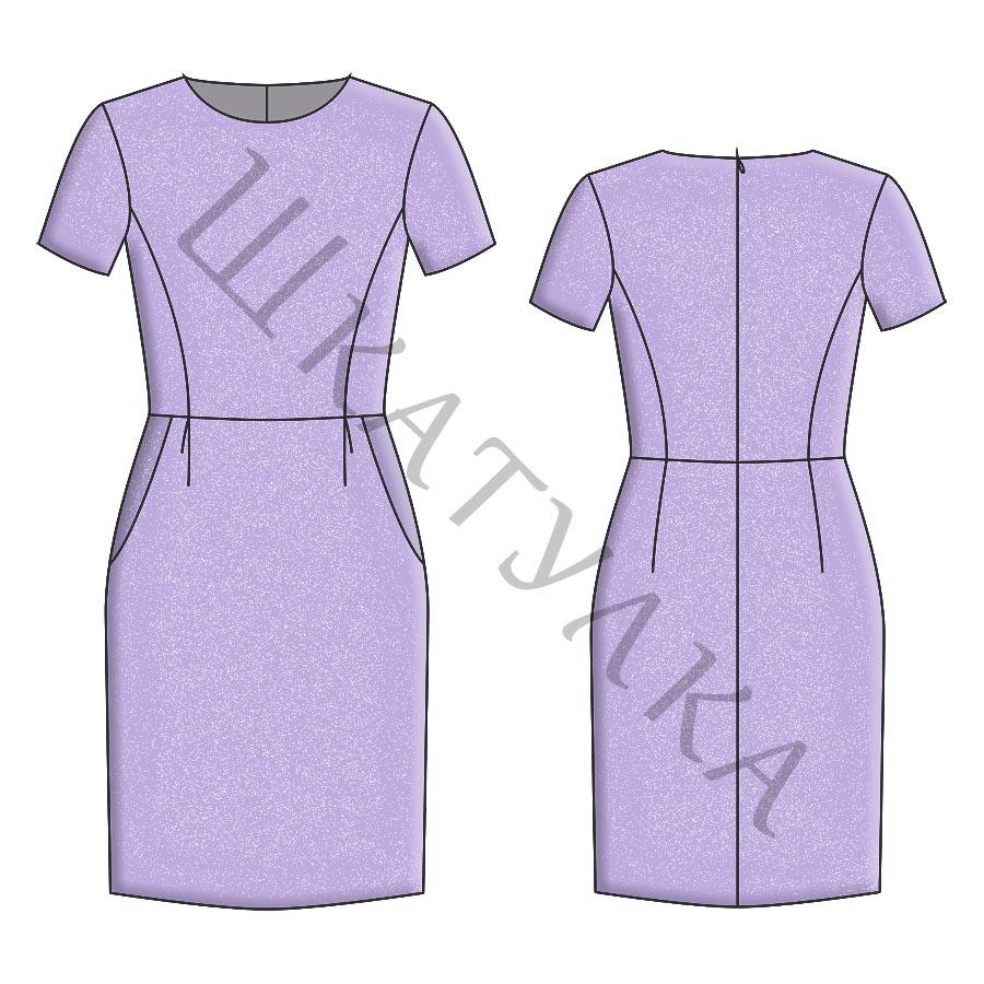 Выкройка школьного платья KD120719