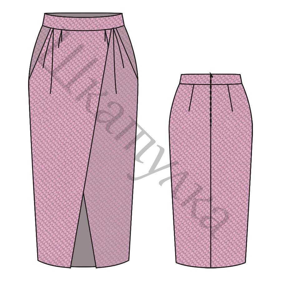 Выкройка женской юбки WS220719