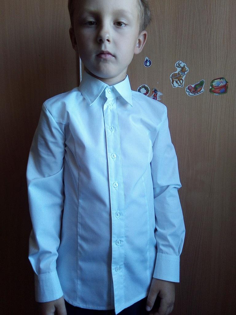 рубашка приталенная для мальчика