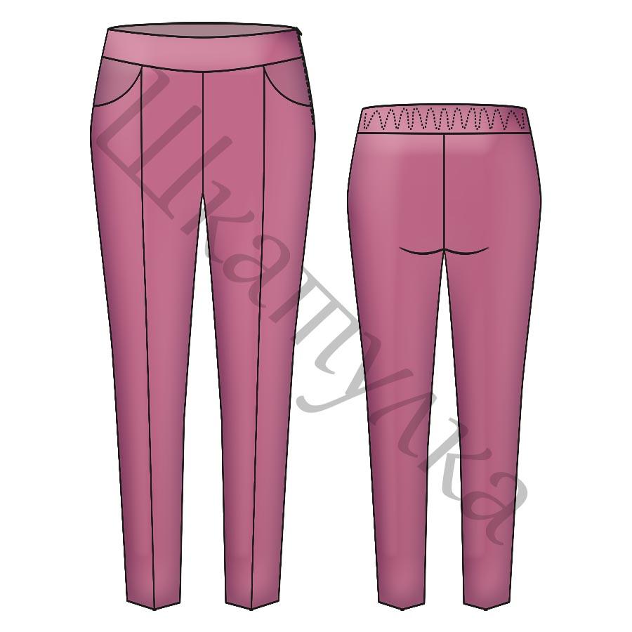 Выкройка брюк для девочки KB010819