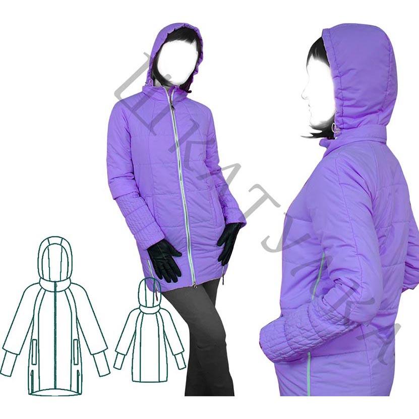Выкройка женской демисезонной куртки с рукавом реглан WP160819