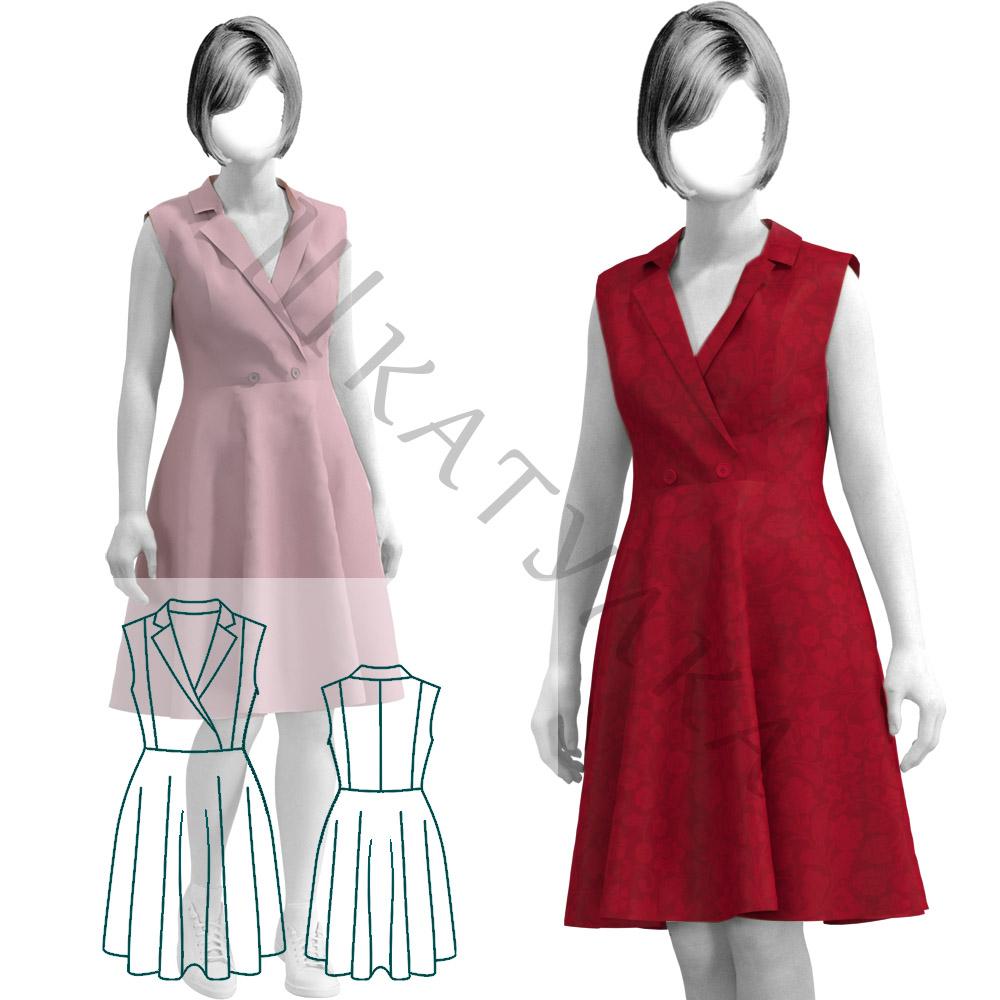 Выкройка платья WD090919