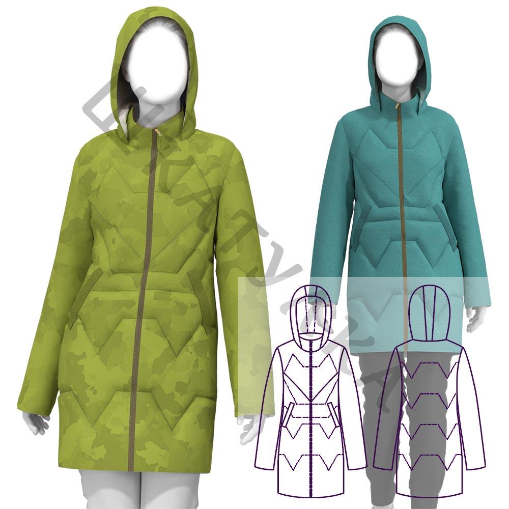 Выкройка женской куртки-парки WP120919