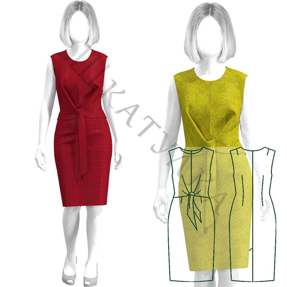 Выкройка платья с узлом WD300919